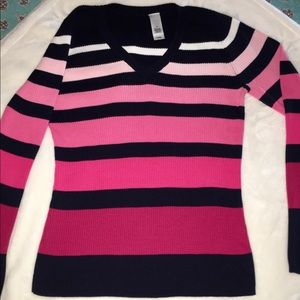 Adorable Sweater, shades of pink, Medium